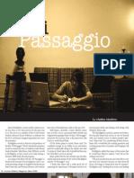 """""""Di Passaggio"""" in Reflector Magazine"""