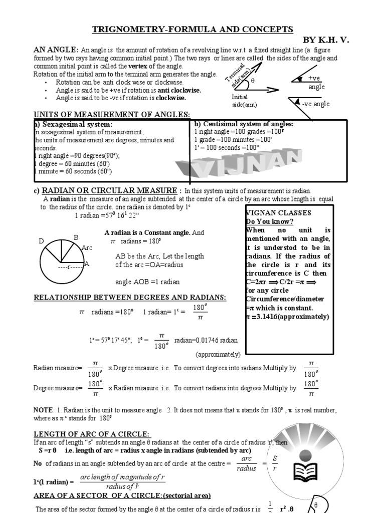 trigonometry-formula-final-v | Trigonometric Functions | Sine