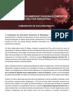 Comunicado de Esclarecimento - DUGONGO