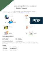Les pronoms pronominaux et les verbs pronominaux