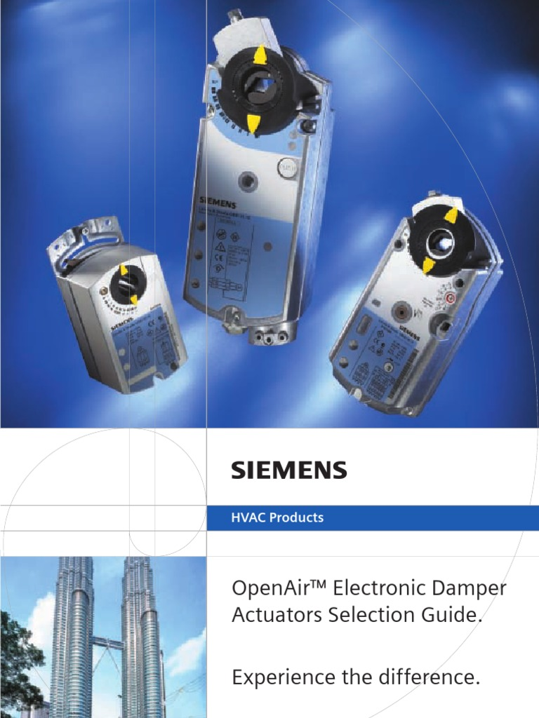 Damper actuator Selector Guide (SIEMENS) | Electromagnetic Compatibility |  Gear