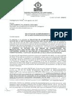 Oficio de la Procuraduría Provincial al Secretario de Infraestructura