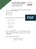Lista 1 - Álgebra Linear