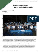 Desenvolvimento Sustentável_ Governo e Campo Magro vão regularizar 100 propriedades rurais - Agência Estadual de Notícias