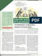 Article de Porquier FDLM Grammaire Ordinaire, Source Dactivités