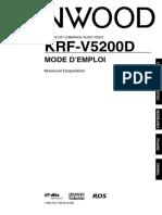 Manual de Kenwood Krf- V5200d