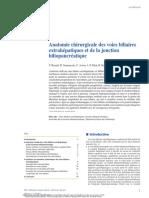 Anatomie chirurgicale des voies biliaires extrahépatiques et de la jonction biliopancréatique