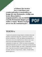textos para a redação argumentativa ( junior)