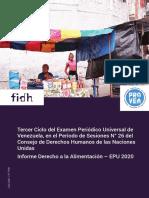 Venezuela - Informe Derecho a la Alimentación – EPU 2020