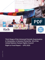 Venezuela - Right to Food Report – UPE 2020