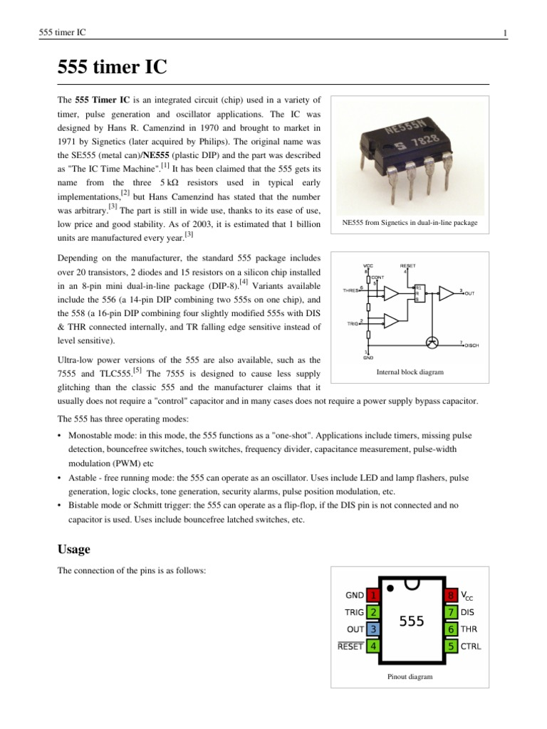 Collection Electrical Engineering Electronic The 555 Timer Ic In Monostablemode