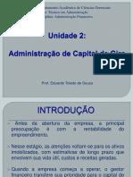 3 - Adm. de Capital de Giro - Unidade 1