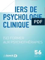 Cahiers de psychologie clinique Numéro 20211 (n° 56)