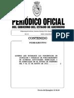 P.O EXTRAORDINARIO 08 AGOSTO 2021