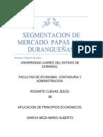 segmentacion de mercado Papas 100% Durangueñas.