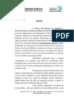 Parecer NECDH da Defensoria Publica de Sao Paulo Minuta de Resolucao CTs no CONAD pdf