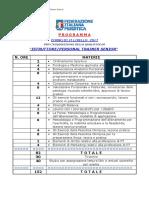 Programma-Materie Corso II Livello on Line FIPE 2017
