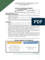 Guía didáctica Nº 3  Ciencias Naturales, Tecnología y Ed. Física - Luz, Calor y Sonido