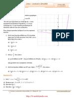 Serie d'Exercices Corrigés - Math - Limites Continuité Et Dérivabilité - 4ème Math (2009-2010)