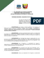 Eventos - Portaria Regional Conjunta Final Nº 001-2015 - Atualizada