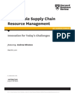 Sustainable Supply Chain Resource Management