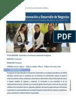 Especializacion en Innovacion y Desarrollo de Negocios - 2020.PDF