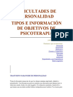 DIFICULTADES DE PERSONALIDAD _ PSICOTERAPIA