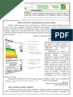 Atividade 6- 8º ano- CN- Cálculo de consumo de energia elétrica- Professor