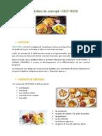Concept marketing Restaurant