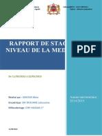 RAPPORT DE STAGE AU NIVEAU DE LA MEDECINE-1