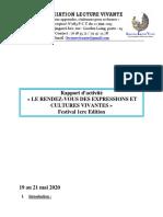Rapport Rendez-Vous Des Expressions Et Cultures Vivantes Édition 2020
