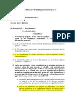 EXAMEN FINAL COMPETENCIAS CIUDADANAS II