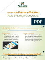 Aula 6 - Interação Humano-Computador - Design Conceitual