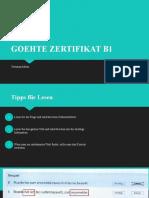 GOEHTE ZERTIFIKAT B1