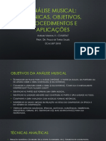 Análise Musical, Técnicas, Objetivos (SALLES 2018)