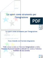Lo sport come strumento per  l'integrazione