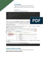 Manejo de Archivos en Python