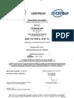 TECNISUN-SUN110-Certificat CSTBat-80-1135