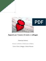 Christian Federici - Appunti per l'esame di Teoria e Solfeggio
