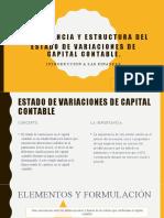 importancia y estructura del estado de variaciones del capital contable