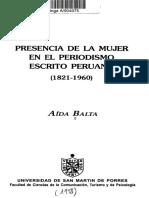 Presencia de La Mujer en El Periodismo Escrito Del Perú