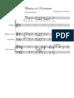 Villancico Al Nacimiento-José Cascante - (Con Arreglo Para Clarinete y Tecla)