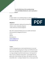 Marketing Strategy Dissertation Proposal