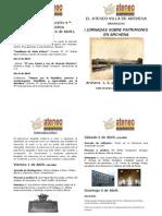 Ateneo Programa Actos I Jornadas sobre Patrimonio