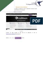 Manual de Uso IconMoon