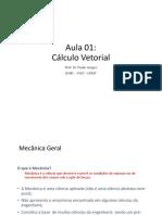 Mec_apl_-_esa - Aula 1 - Cálculo Vetorial