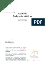 MEC_APL_-_ESA - AULA 7 - Treliças Isostáticas