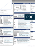 Blueprint css framework version 091 cheat sheet cascading css help sheet malvernweather Image collections