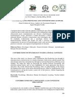 Teóricos da Psicologia da educação e suas contribuições