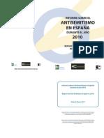 Informe anual sobre Antisemitismo en España 2010
